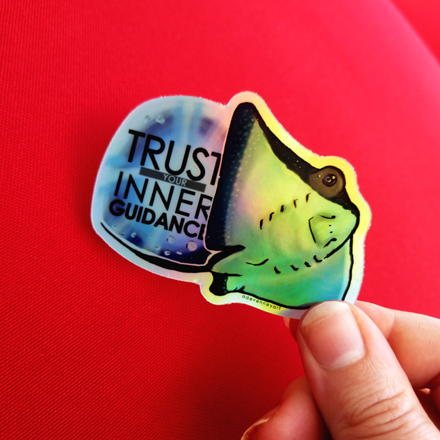 String Ray Motivational Quote Sticker