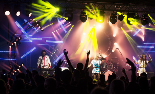 Abba tribute at Rock and Bowl Festival 6