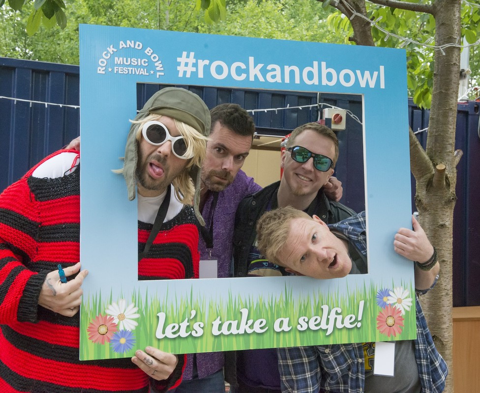 In Vitro festival band at rock and bowl festival