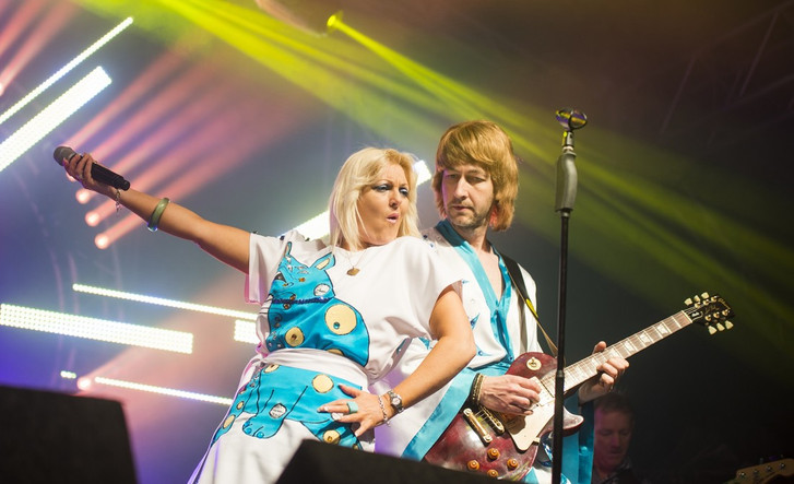 Abba tribute at Rock and Bowl Festival 2