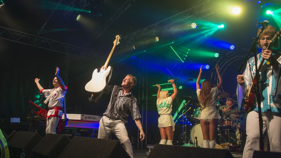 Abba tribute at Rock and Bowl Festival 5