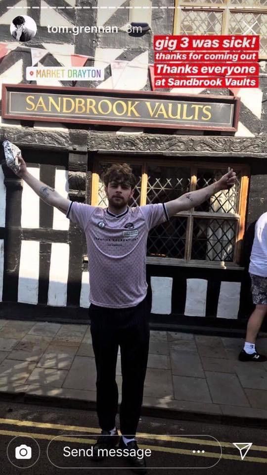 Tom Grennan Sandbrook Vaults Market Drayton