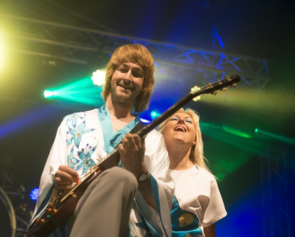 Abba tribute at Rock and Bowl Festival 3