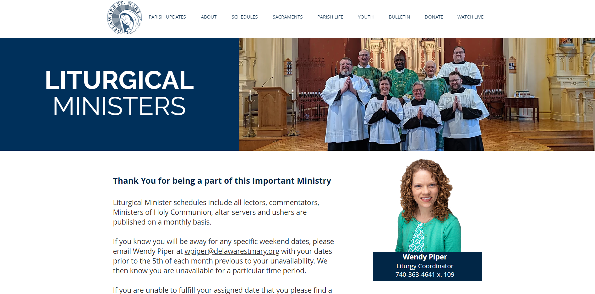 liturgicalministrypage