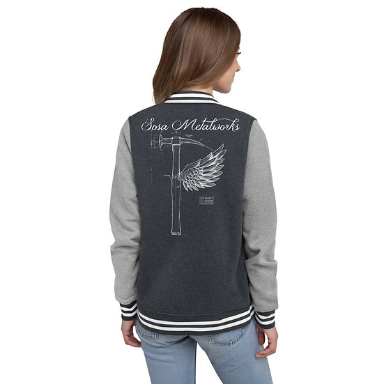 Women's Patent Hammer Letterman Jacket