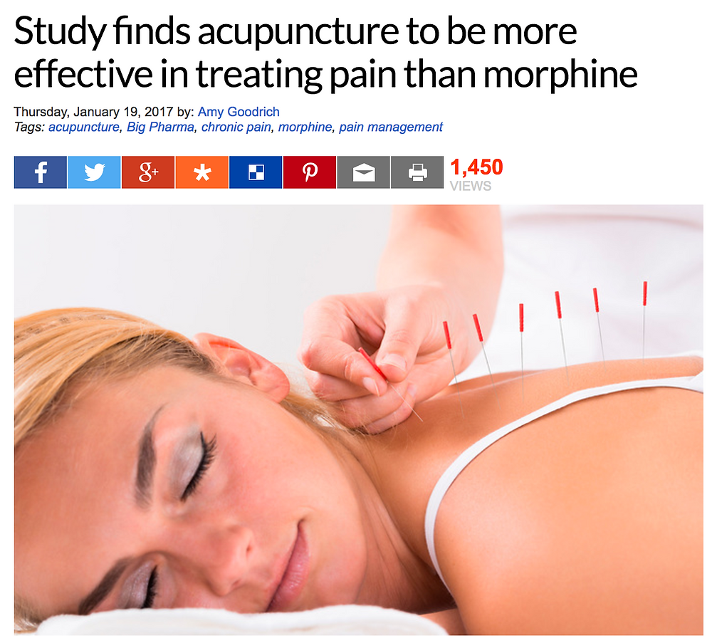 Acupuncture better than Morphine!