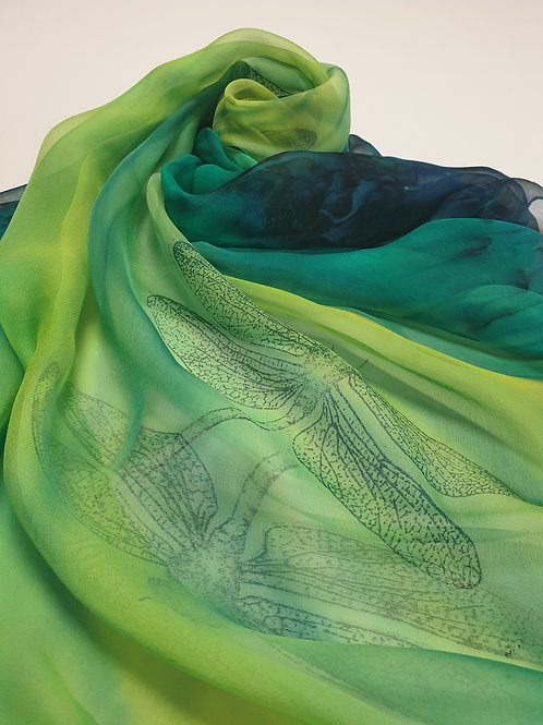 Hand-painted 100% Silk Scarf SC0031
