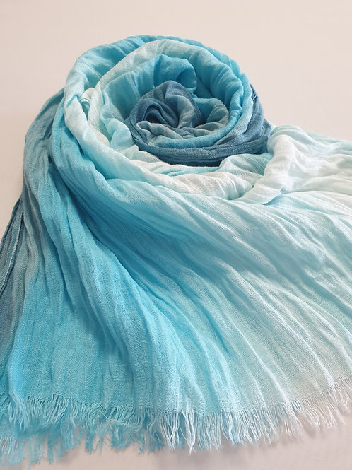 Hand-painted 100% Linen Scarf SC0106