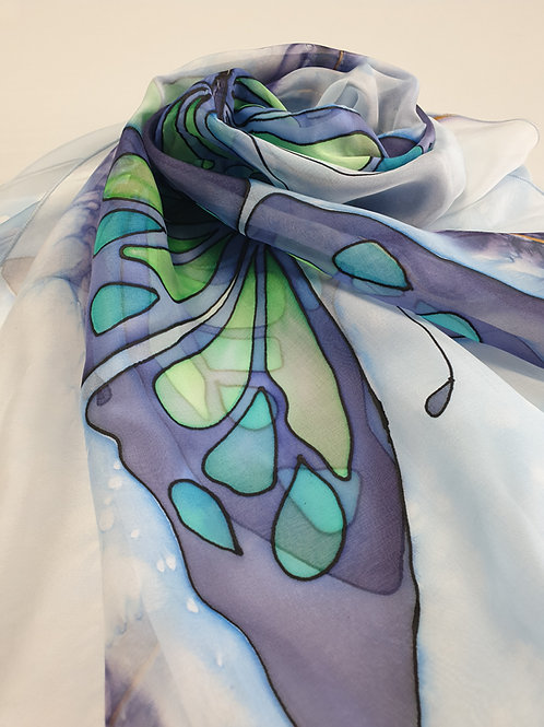 Hand-painted 100% Silk Scarf SC0054