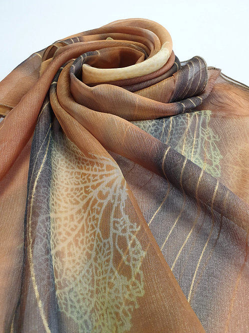 Hand-painted 100% Silk Scarf SC0094