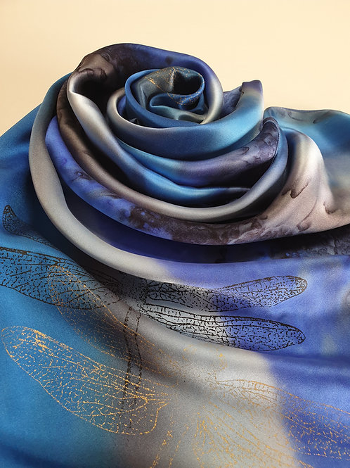 Hand-painted 100% Silk Scarf SC0125