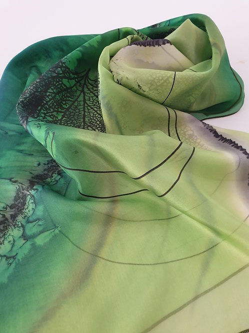 Hand-painted Silk Scarf SC0006