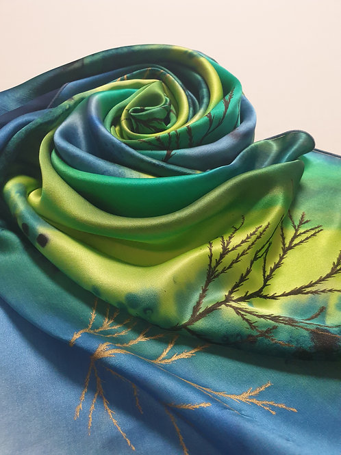 Hand-painted 100% Silk Scarf SC0128
