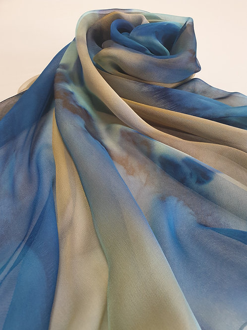 Hand-painted 100% Silk Scarf SC0029