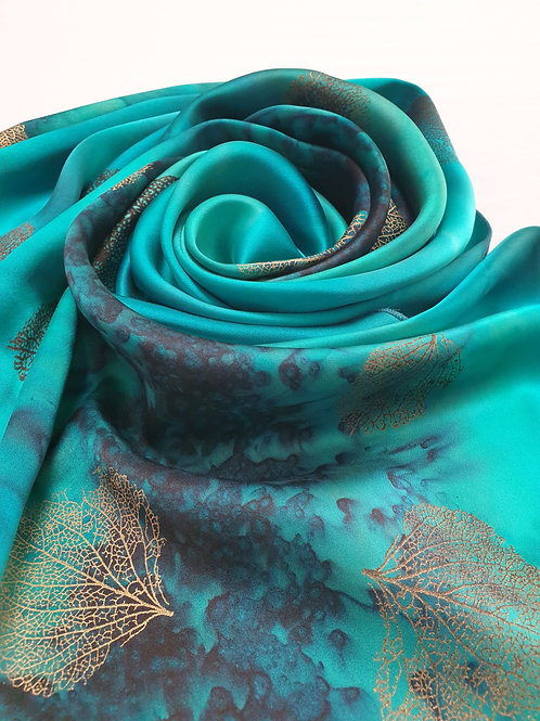 Hand-painted 100% Silk Scarf SC129