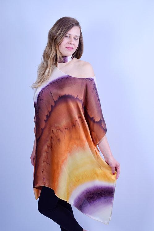 """Hand-painted Silk Kaftan """"Dawn"""""""