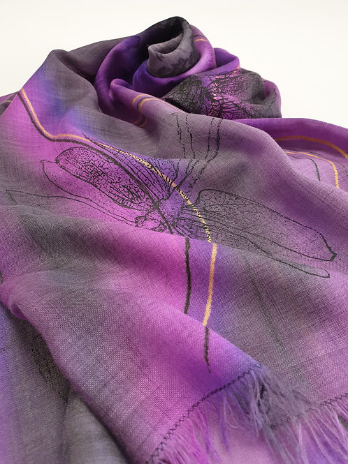 Hand-painted 100% Merino Wool Scarf SC0021