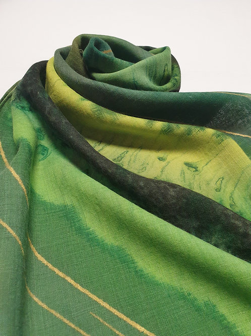 Hand-painted 100% Merino Wool Scarf SC0039