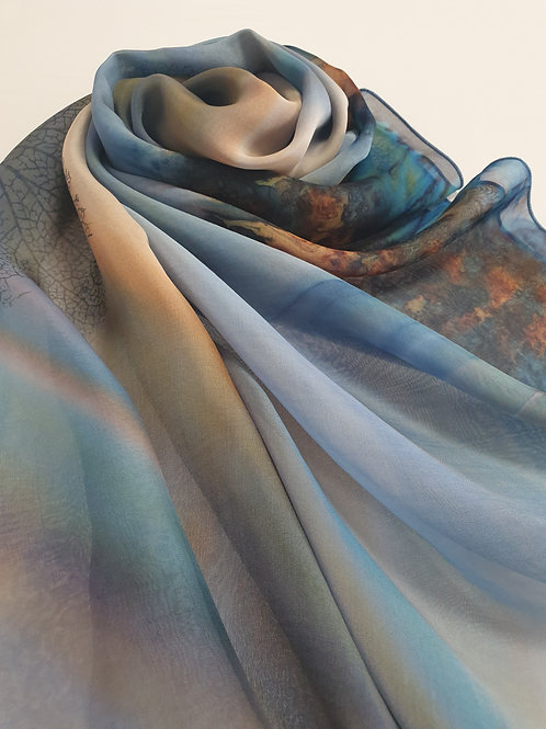 Hand-painted 100% Silk Scarf SC0097