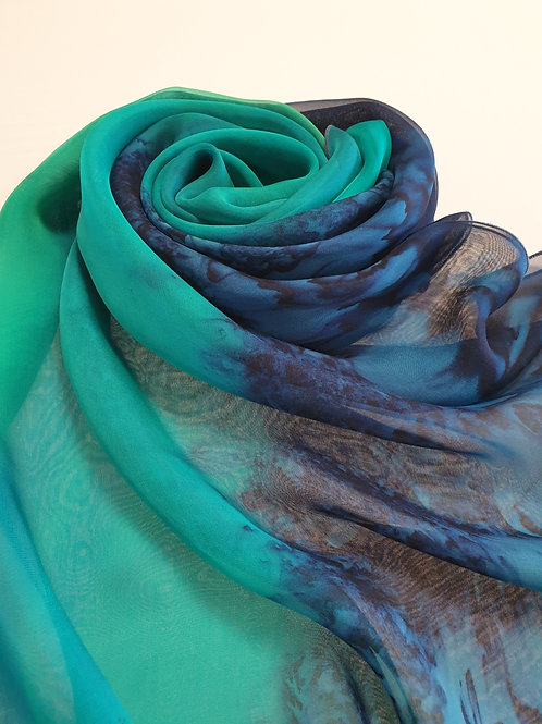Hand-painted 100 % Silk Scarf SC0105