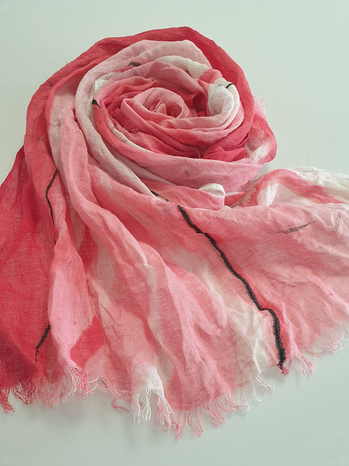Hand-painted 100% Linen Scarf SC0114