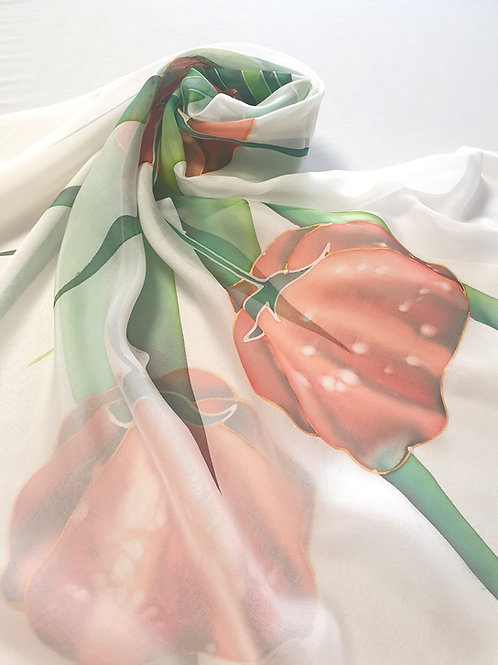 Hand-painted 100% Silk Scarf SC0056