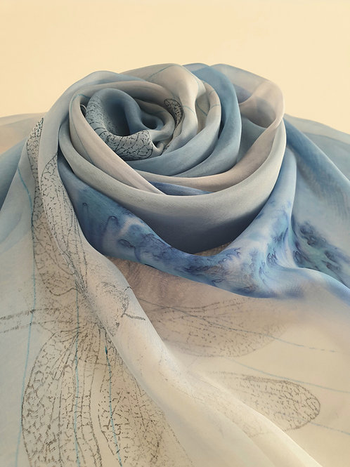 Hand-painted 100% Silk Scarf SC0123