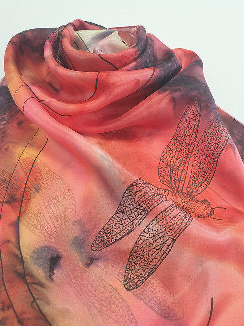 Hand-painted 100% Silk Scarf SC0092
