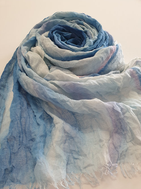 Hand-painted 100% Linen Scarf SC0115