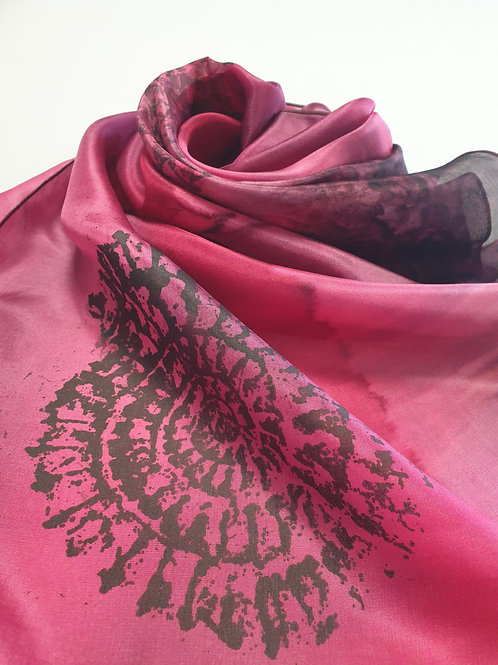 Hand-painted 100% Silk Scarf SC0071