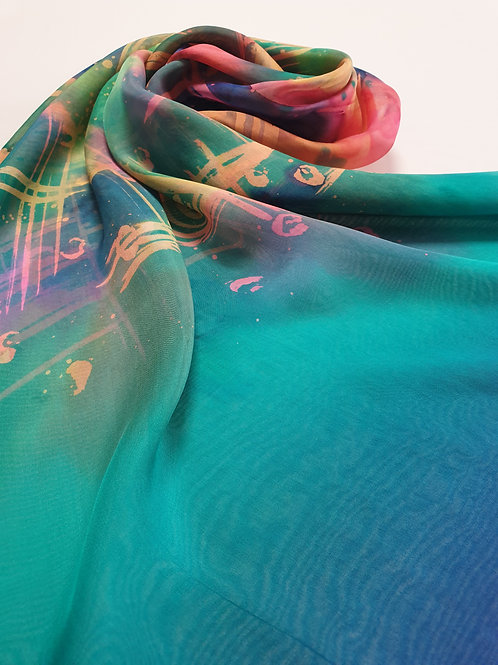 Hand-painted Silk Scarf SC0018