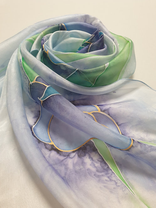 Hand-painted 100% Silk Scarf SC0099