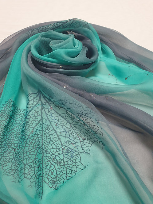 Hand-painted Silk Scarf  SC0057