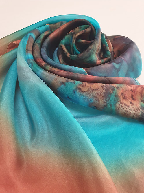 Hand-painted 100% Silk Scarf SC0153