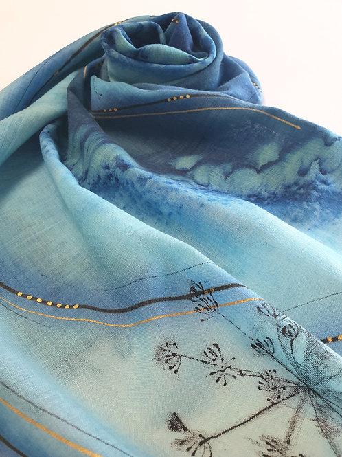 Hand-painted 100% Merino Wool Scarf SC0023