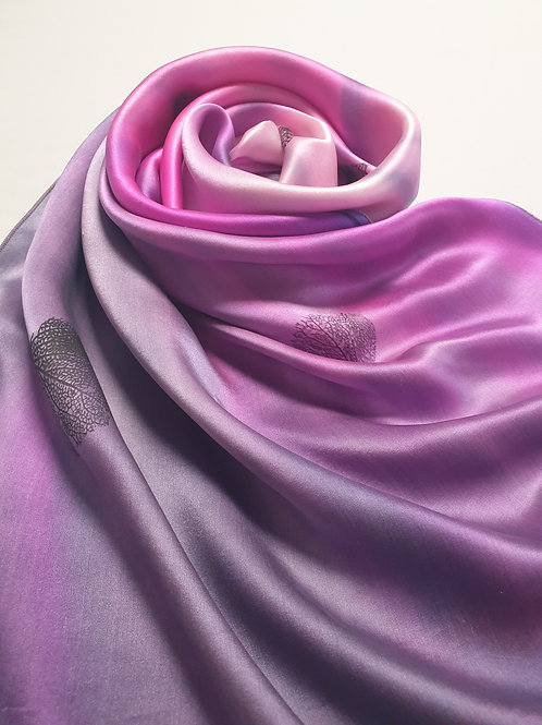 Hand-painted 100% Silk Scarf SC0109