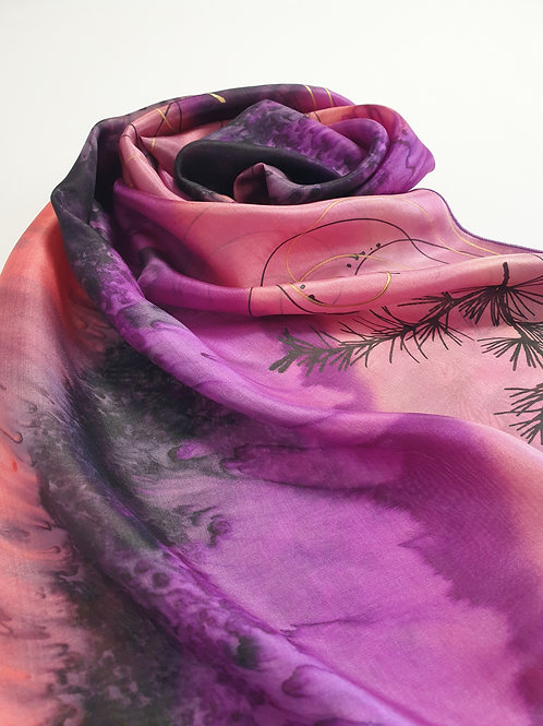 Hand-painted 100% Silk Scarf SC0093