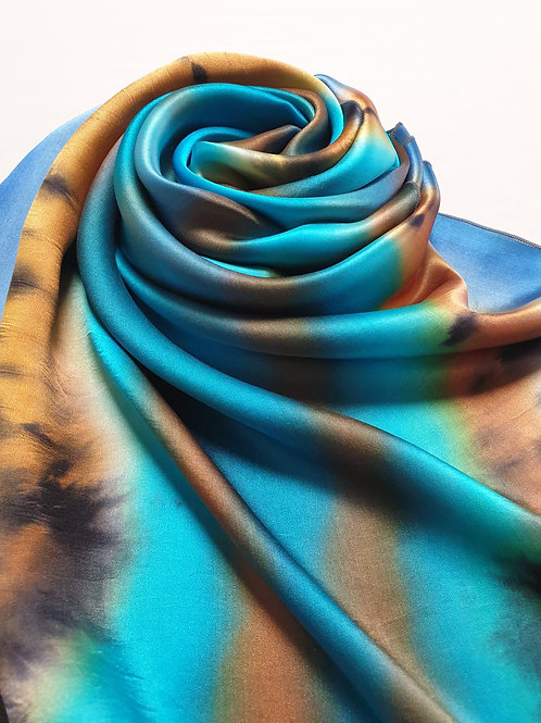 Hand-painted 100% Silk Scarf  SC0113