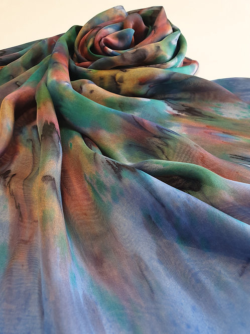 Hand-painted Silk Scarf SC0016