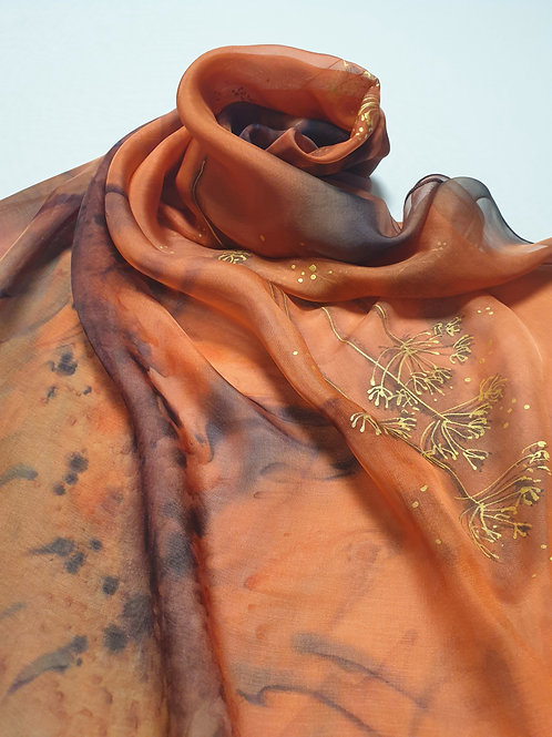 Hand-painted 100% Silk Scarf SC0061