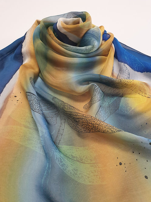 Hand-painted 100% Silk Scarf SC0087
