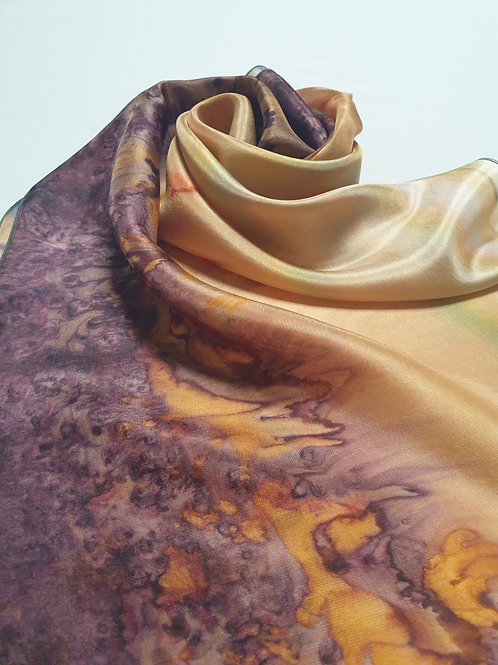Hand-painted 100% Silk Scarf SC0068