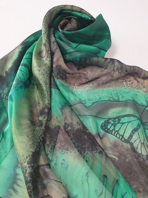 Hand-painted Silk Scarf SC0012
