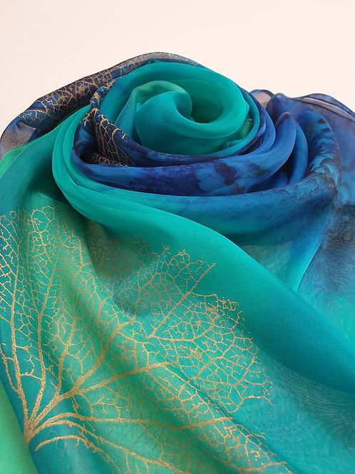 Hand-painted 100% Silk Scarf SC0120