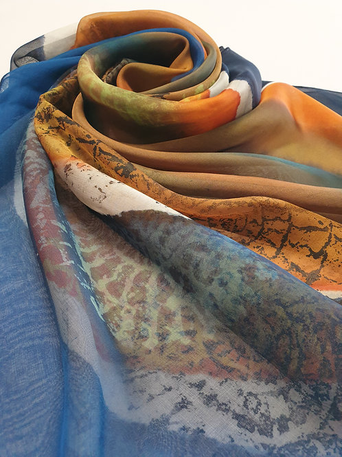 Hand-painted 100% Silk Scarf SC0089