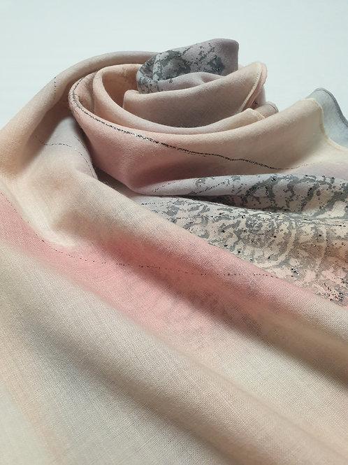 Hand-painted 100% Merino Wool Scarf SC0038