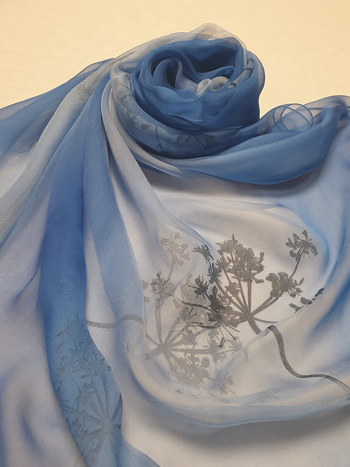 Hand-painted 100%  Silk Scarf SC0055