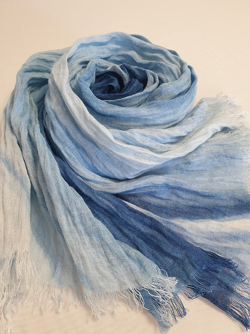 Hand-painted 100% Linen Scarf SC0107