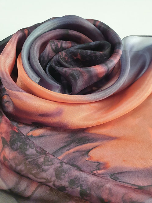 Hand-painted 100% Silk Scarf SC0154