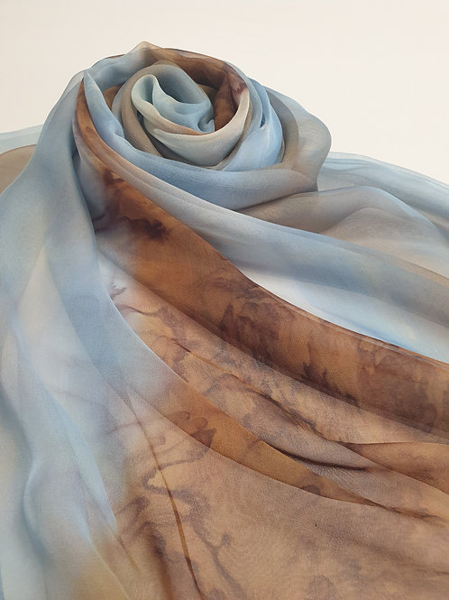 Hand-painted 100% Silk Scarf SC0095